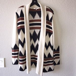 BB Dakota Asher Intarsia Cardigan Sweater Sz M